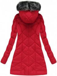 Asymetrická zimná bunda 1758, červená