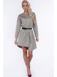 Asymetrické šaty so zipsom 1961 horčicové