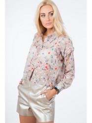 Béžová košeľa s dotlačou 21056