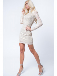 Béžové šaty 6549