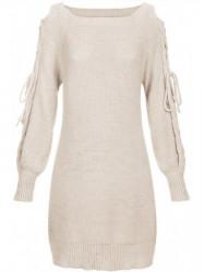 Béžový dámsky sveter 113ART