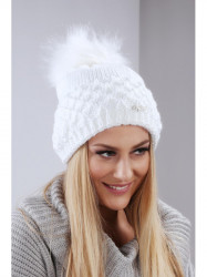 Biela dámska čiapka C14