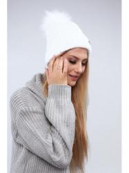 Biela dámska čiapka C1 #3