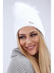 Biela dámska čiapka C16