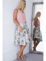 Biela kvetinová sukňa