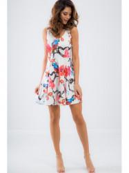 Biele letné šaty TA6167