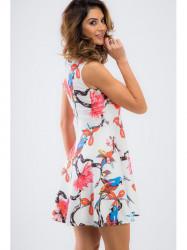 Biele letné šaty TA6167 #3