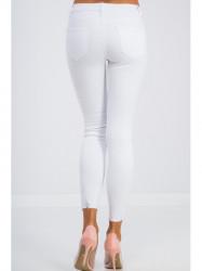 Biele skinny jeans zdobené #1