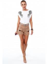 Biele tričko s krídlami 4375