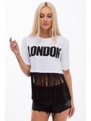Bielé tričko s nápisom