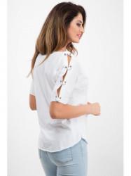 Biele tričko s vreckom