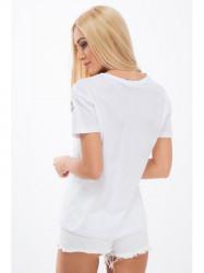 Bielé tričko s výšivkou