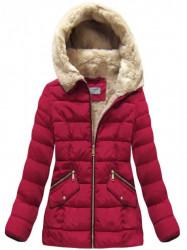 Bordová dámska zimná bunda B1051