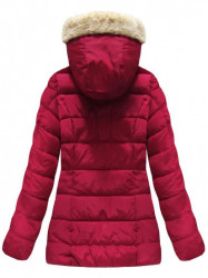Bordová dámska zimná bunda B1051 #1