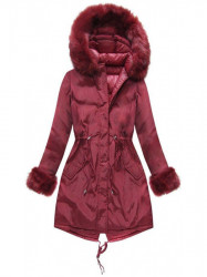 Bordová obojstranná zimná bunda PM7210