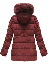 Bordová prešívaná zimná bunda B3572 #1