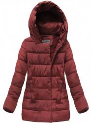 Bordová prešívaná zimná bunda B3572 #2