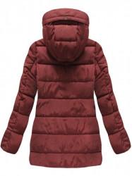 Bordová prešívaná zimná bunda B3572 #3