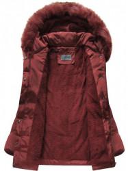 Bordová prešívaná zimná bunda B3572 #4