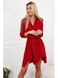 Bordové dámske košeľové šaty 19590
