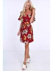 Bordové dámske šaty 1774 #4
