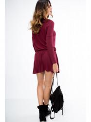 Bordové mini šaty 96300