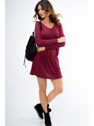 Bordové mini šaty 96300 #1