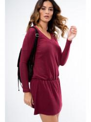 Bordové mini šaty 96300 #2