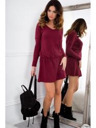 Bordové mini šaty 96300 #3