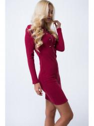Bordové šaty 16050 #2