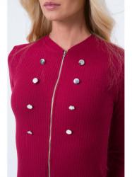 Bordové šaty 16050 #3