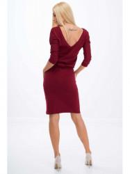 Bordové šaty 9729