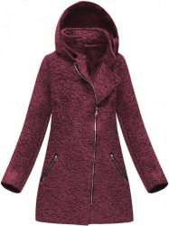 Bordový dámsky prechodný kabát 174ART