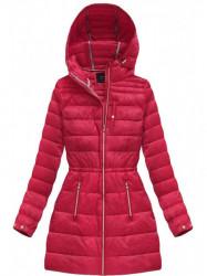 Červená dámska prechodná bunda 3365A