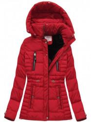 Červená dámska zimná bunda W736 #1