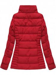 Červená dámska zimná bunda W736 #4