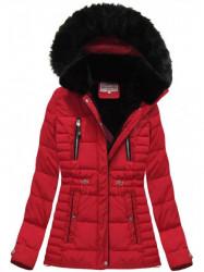 Červená dámska zimná bunda W736 #5