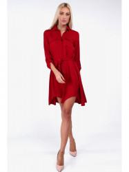 Červené dámske košeľové šaty 19590
