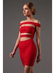 Červené extravagantné šaty