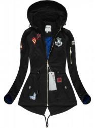 Čierna bavlnená bunda XW522X