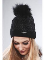 Čierna dámska čiapka C16