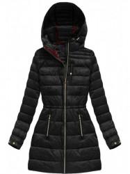 Čierna dámska prechodná bunda 3365A