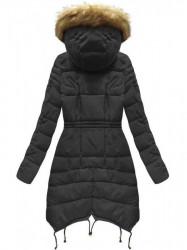 Čierna dámska zimná bunda 3602W