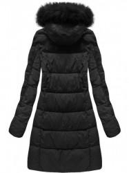 Čierna dámska zimná bunda 7702