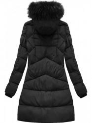 Čierna dámska zimná bunda 7757BIG