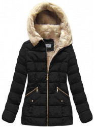 Čierna dámska zimná bunda B1051