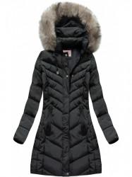 Čierna dámska zimná bunda W735