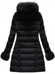 Čierna dámska zimná bunda W751BIG