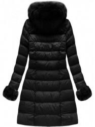 Čierna dámska zimná bunda W765-1