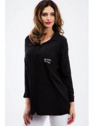 Čierna oversize košeľa 1149